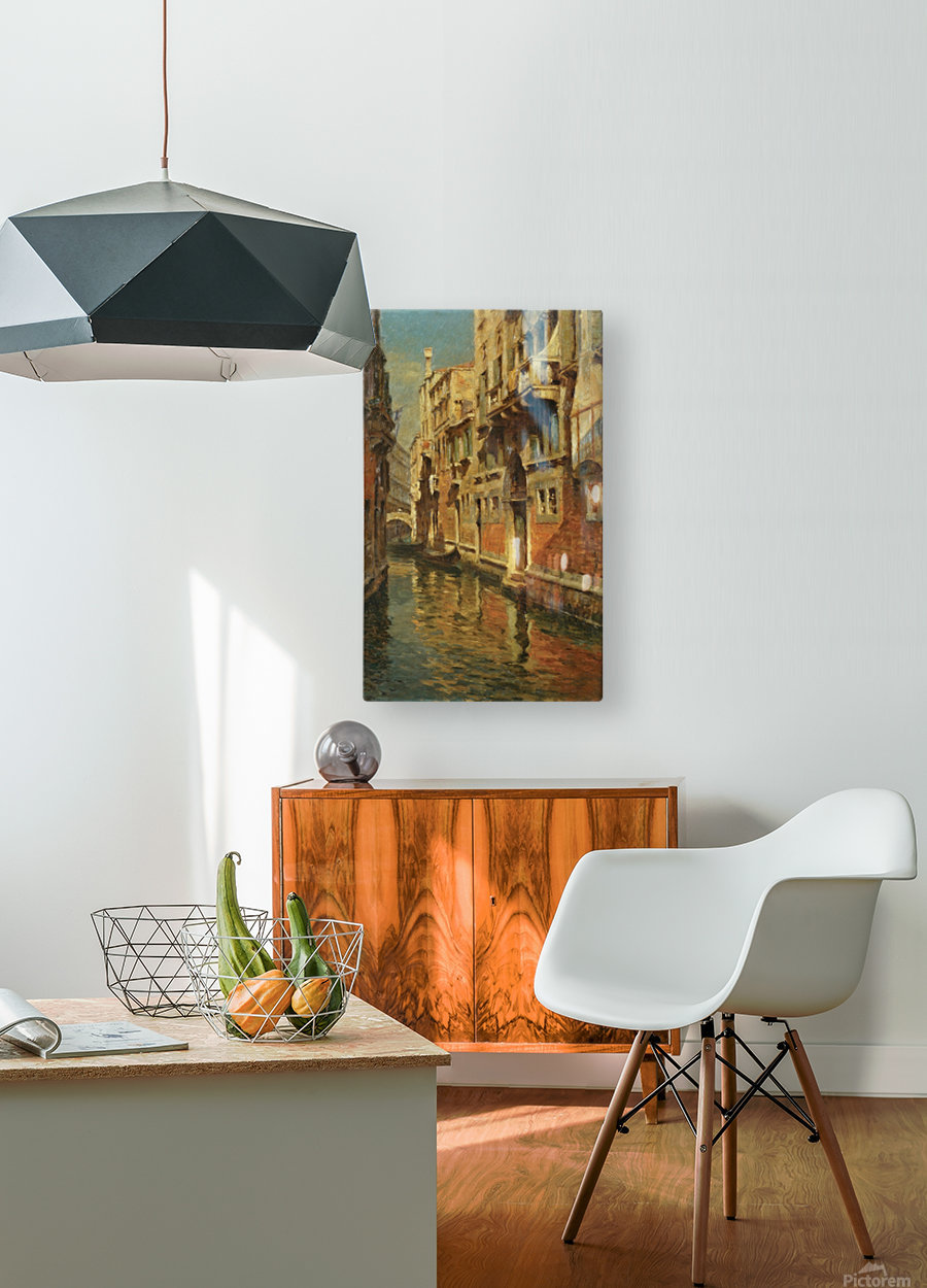 Shining morning in Venice  HD Metal print with Floating Frame on Back