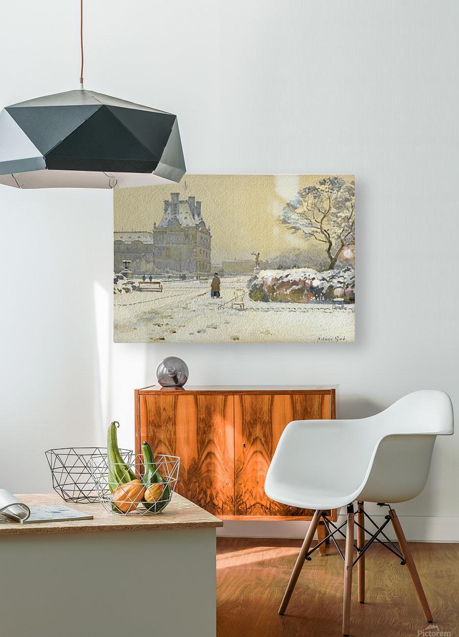 Le pavillon de flore sous la neige, Paris  HD Metal print with Floating Frame on Back