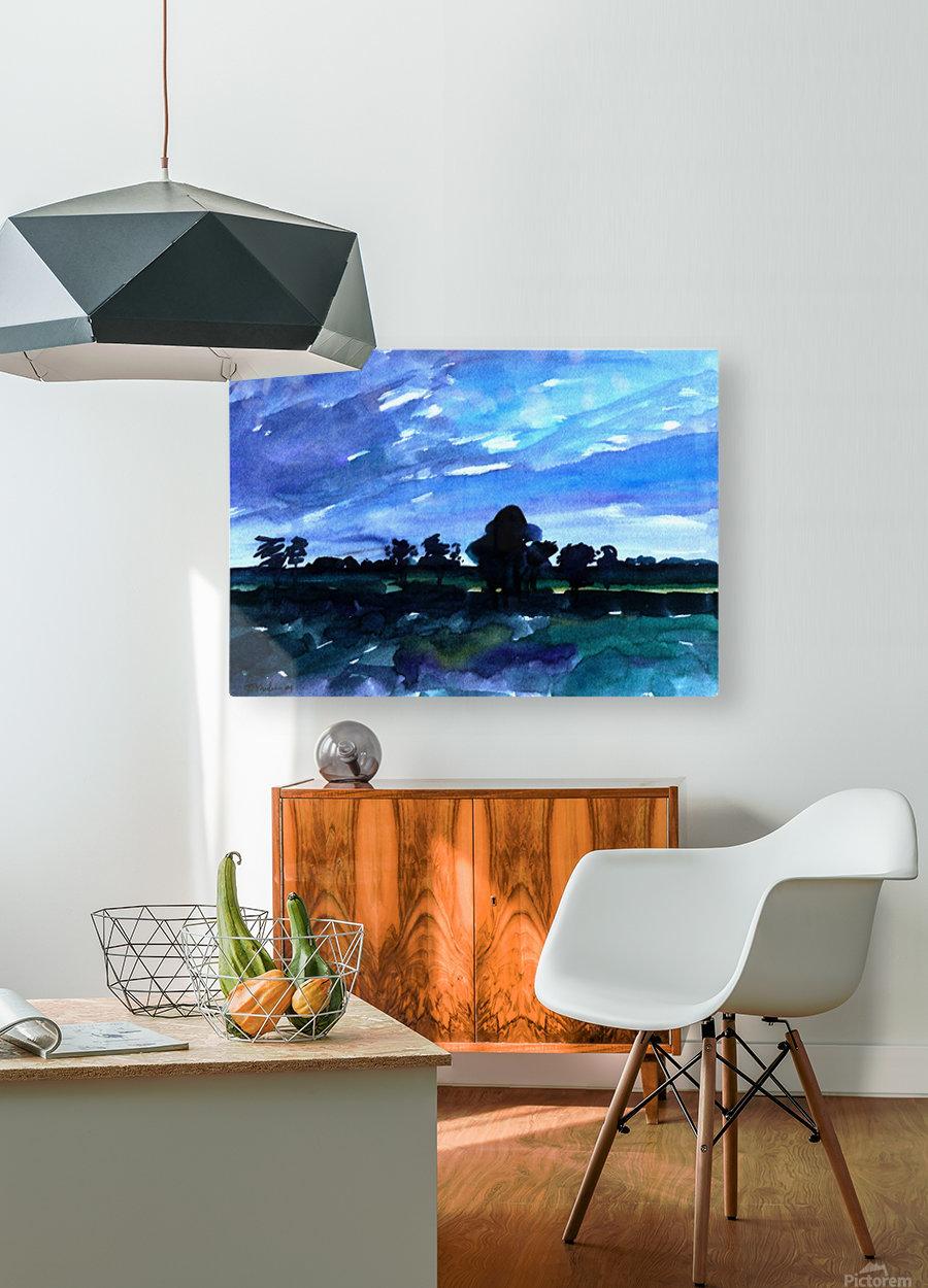 morning landscape 2  HD Metal print with Floating Frame on Back