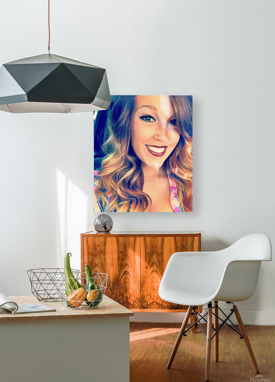 EM- Female pic art model  HD Metal print with Floating Frame on Back