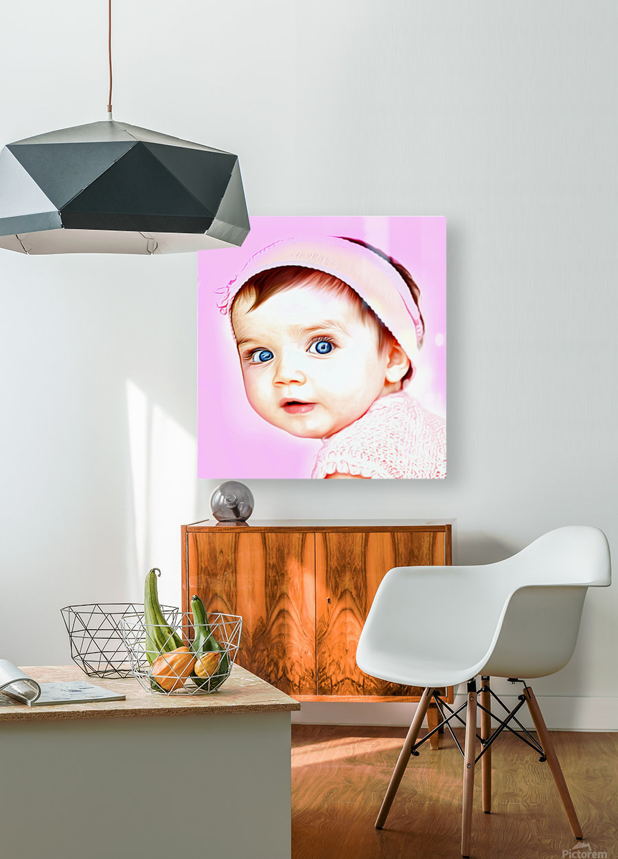 Cute Baby Pic Art  HD Metal print with Floating Frame on Back