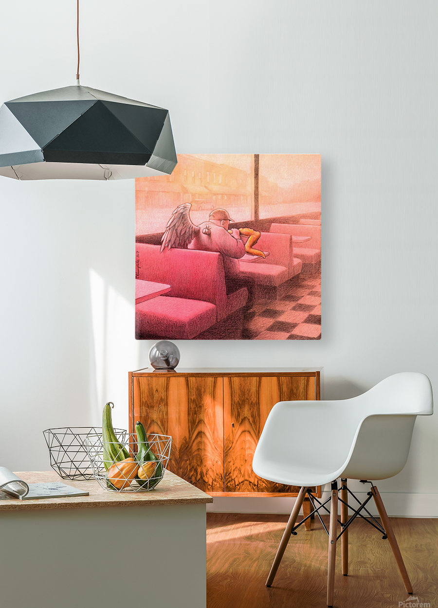 Fried wings  HD Metal print with Floating Frame on Back