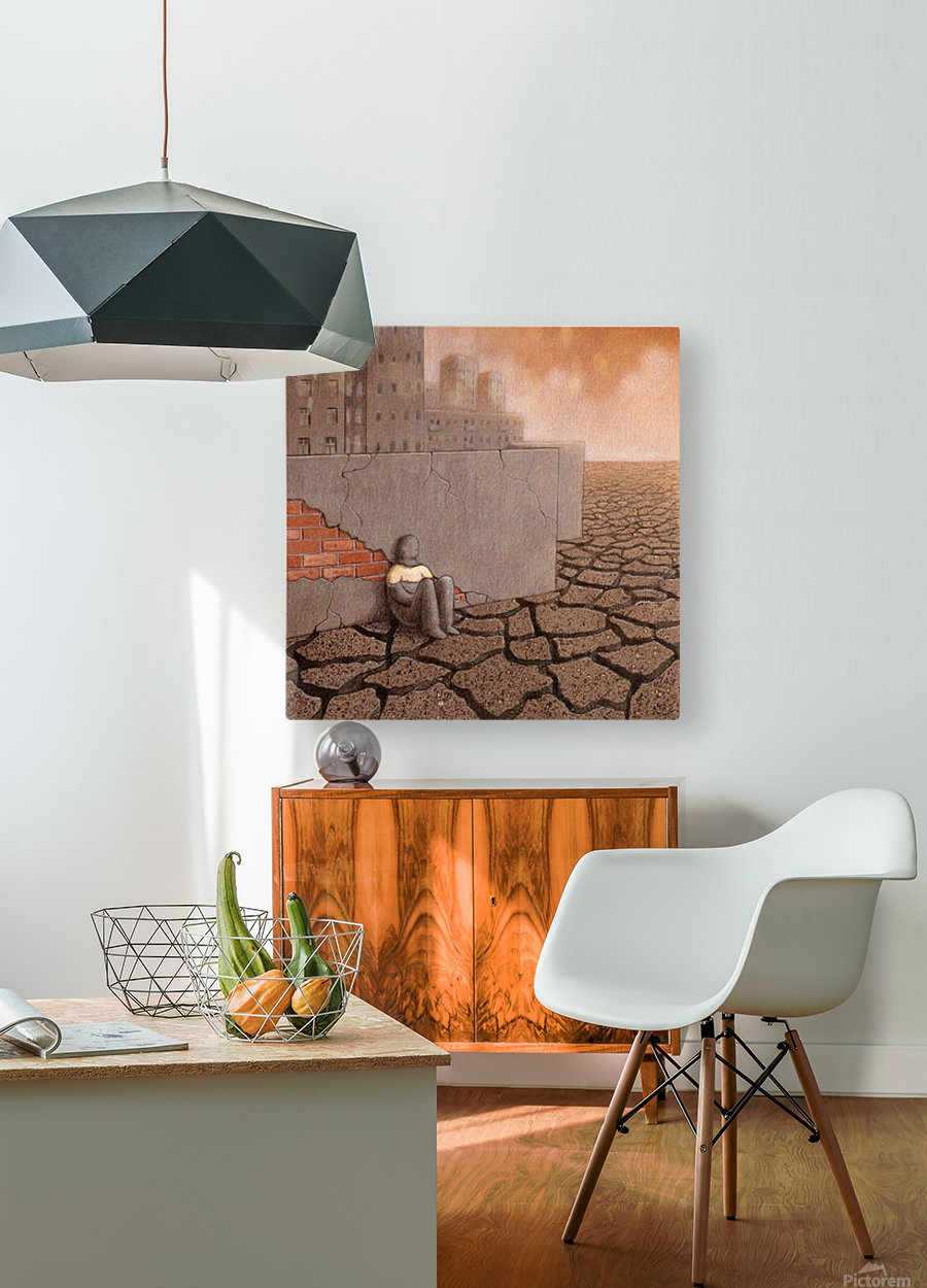 Dead City  HD Metal print with Floating Frame on Back