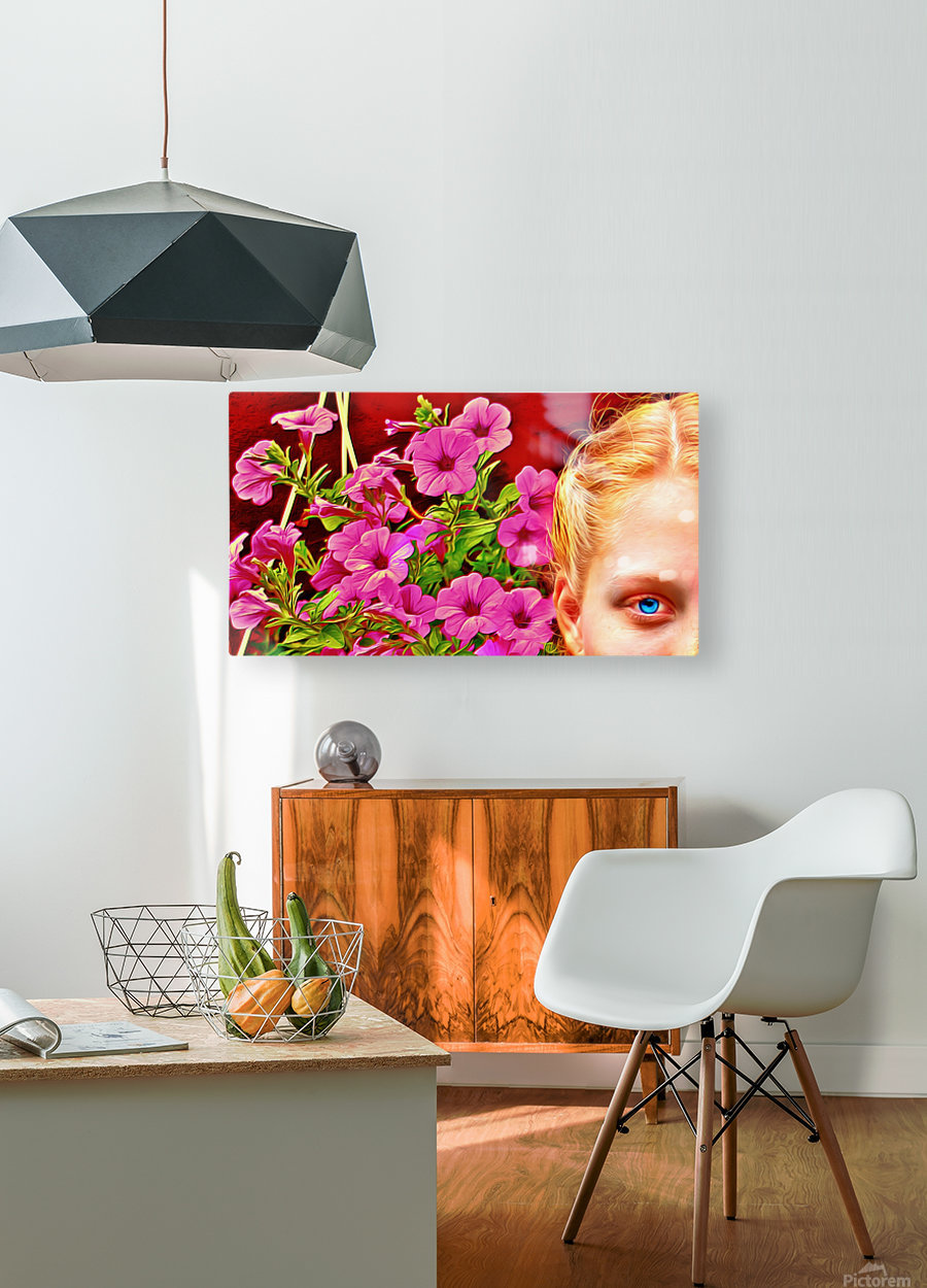 womanflowersEYE  HD Metal print with Floating Frame on Back