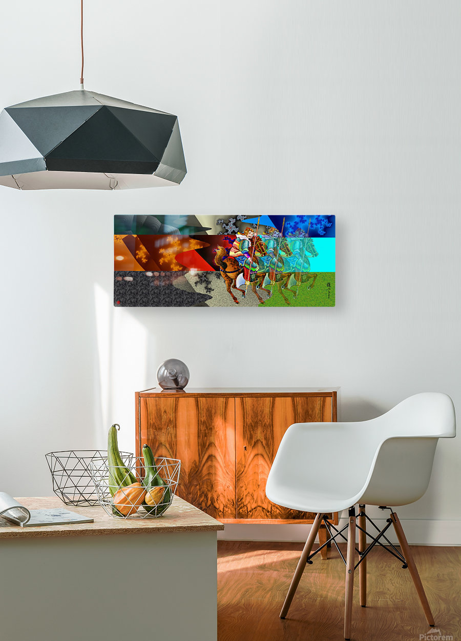 A Return thro' Space & Time  HD Metal print with Floating Frame on Back