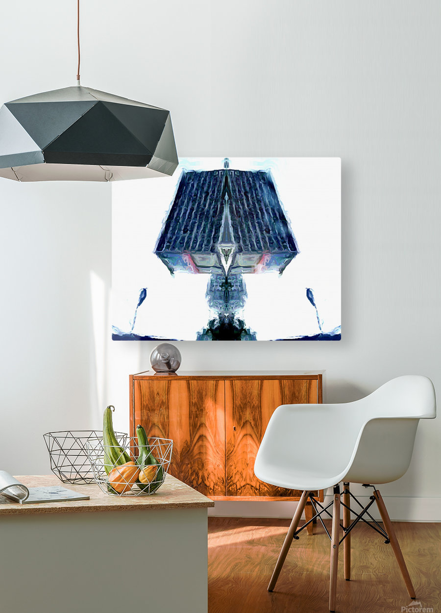tower  HD Metal print with Floating Frame on Back