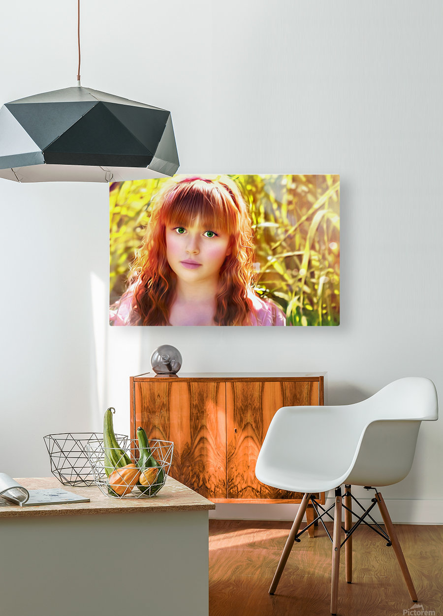 JesusEyes  HD Metal print with Floating Frame on Back