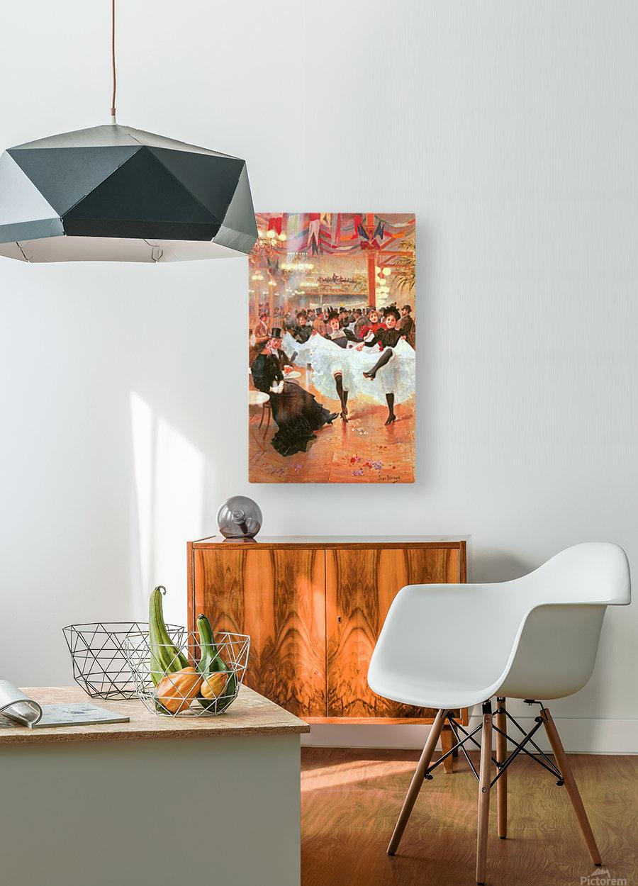 Cafe de Paris  HD Metal print with Floating Frame on Back