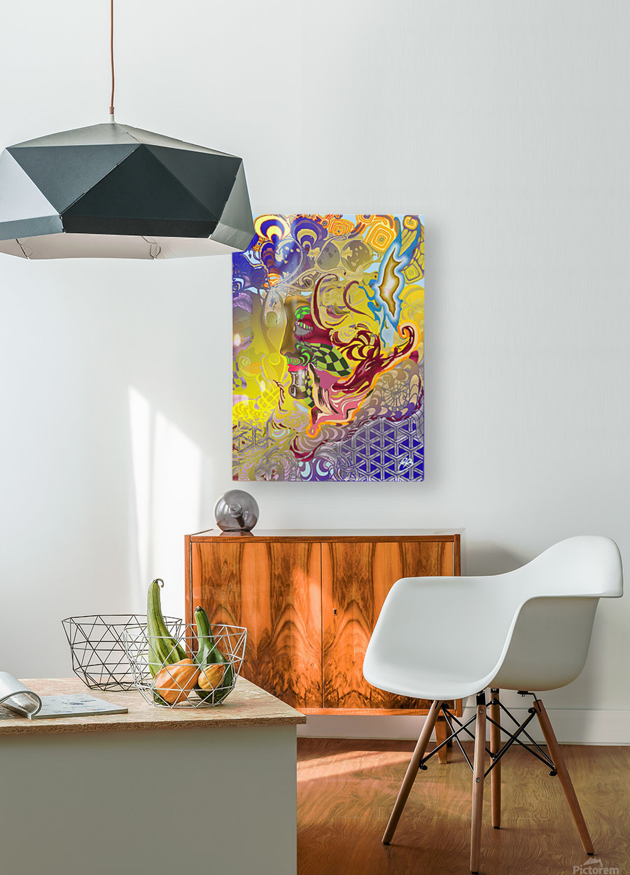 Spirit Fox  HD Metal print with Floating Frame on Back