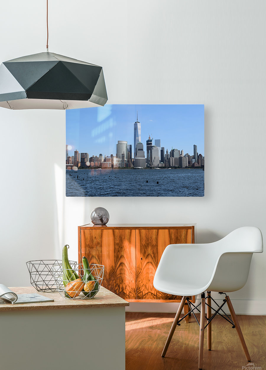 MANHATTAN, NEW YORK  HD Metal print with Floating Frame on Back