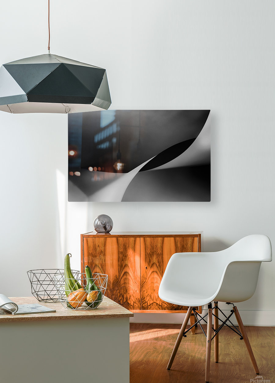 mit Schwung  HD Metal print with Floating Frame on Back