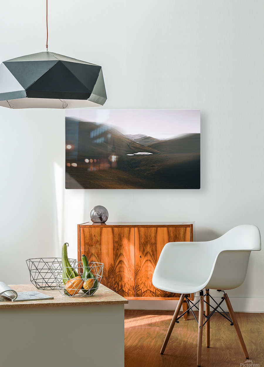 Quiet  HD Metal print with Floating Frame on Back