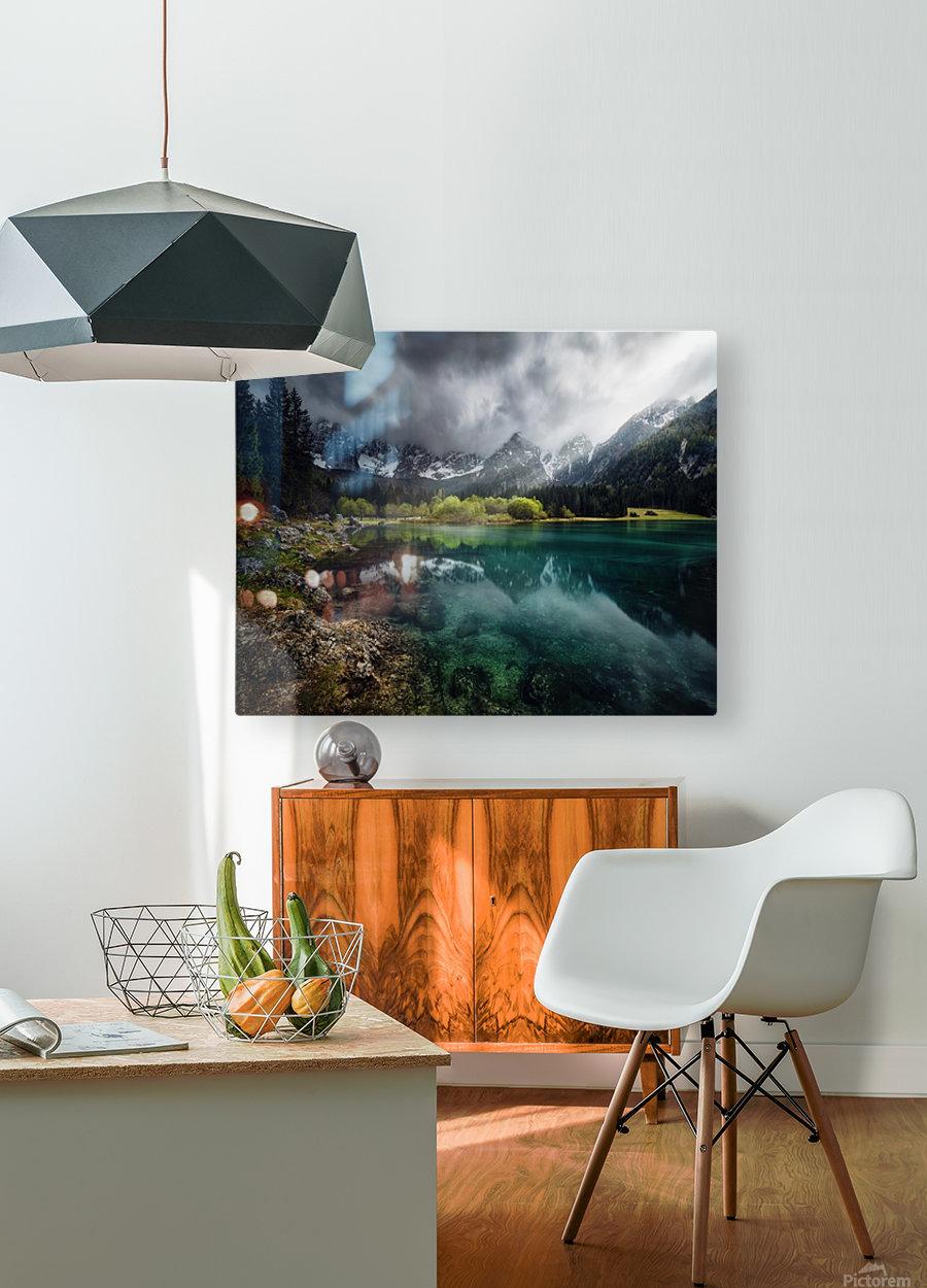Azul turquesa.  HD Metal print with Floating Frame on Back
