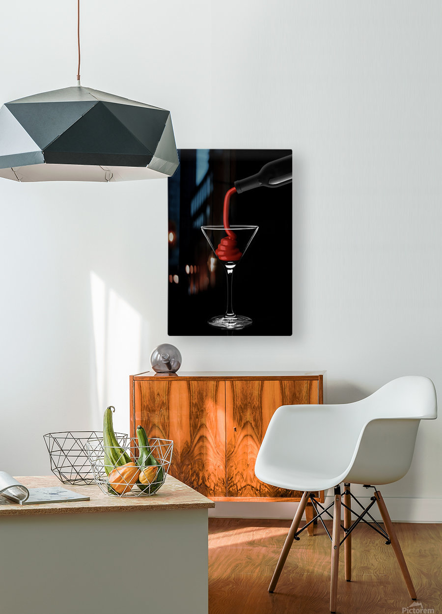 Wine  HD Metal print with Floating Frame on Back