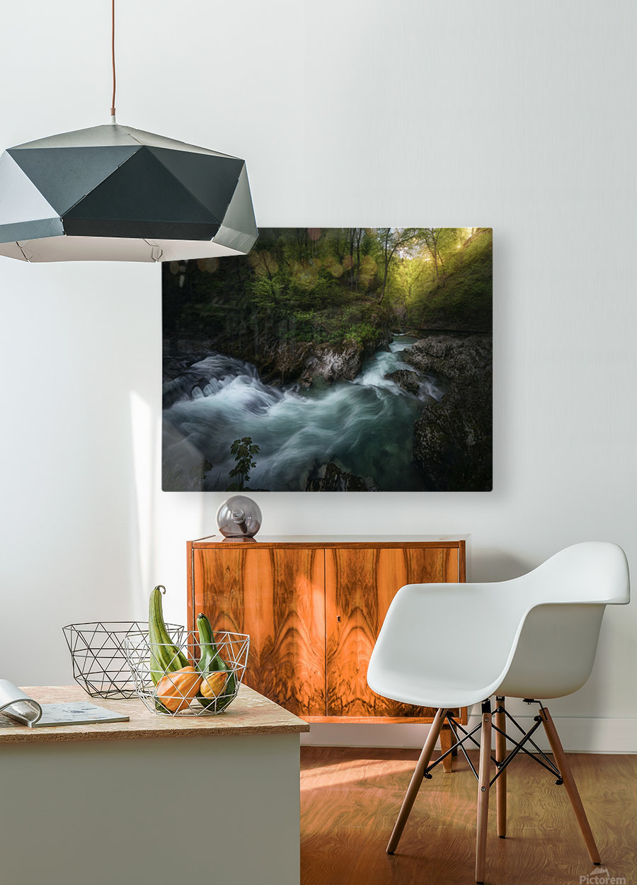 Gorge 1.  HD Metal print with Floating Frame on Back