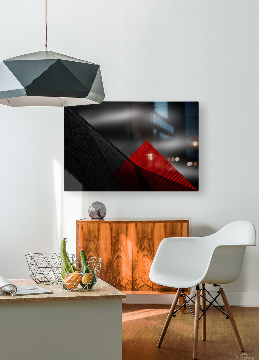 Untitled  HD Metal print with Floating Frame on Back