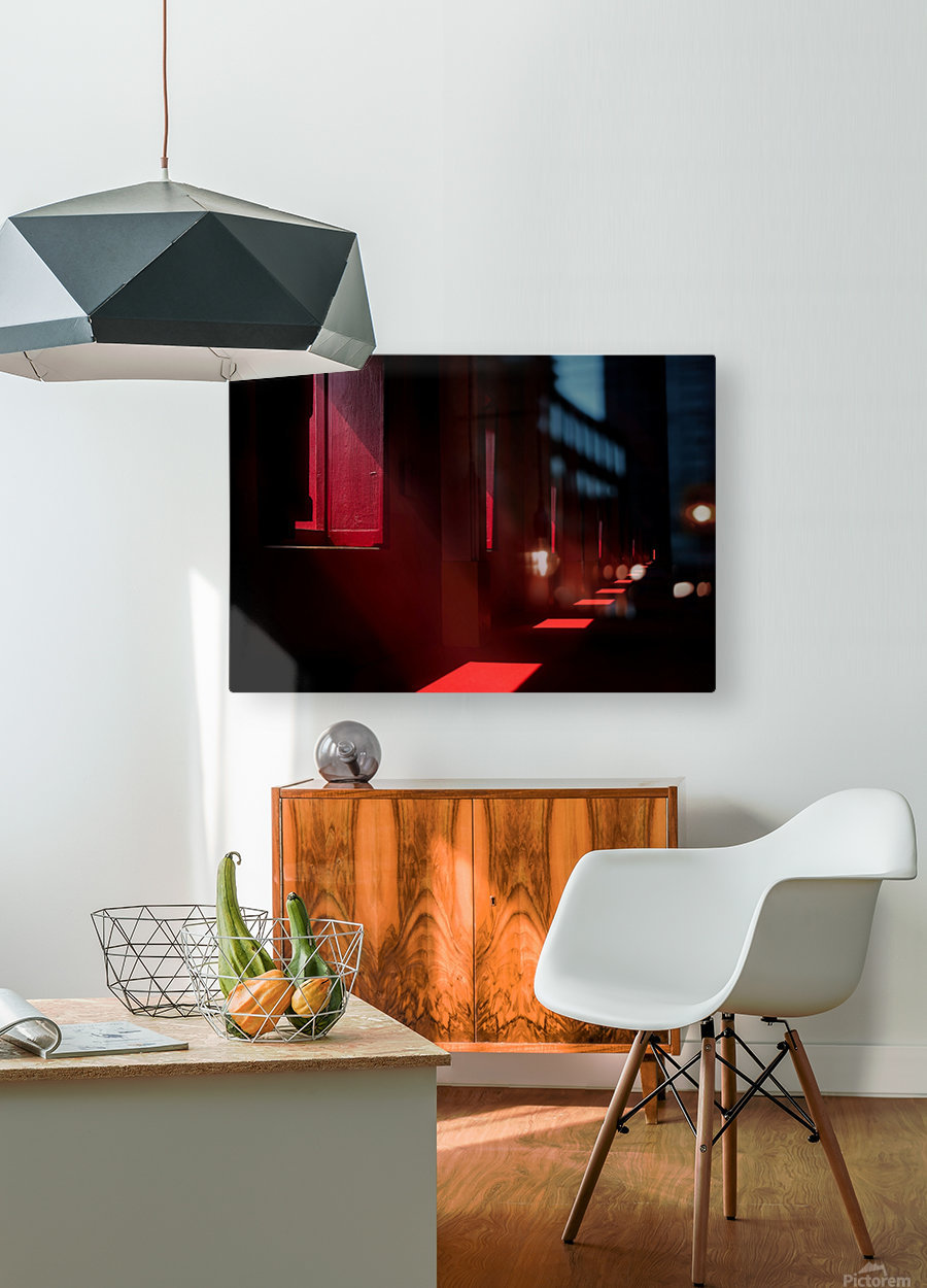 In the red temple  HD Metal print with Floating Frame on Back