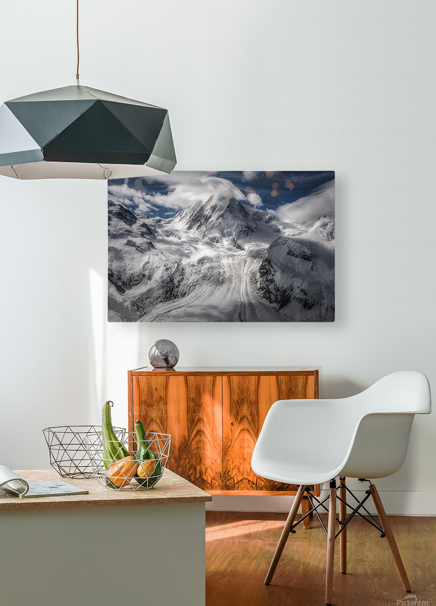 Glacial  HD Metal print with Floating Frame on Back