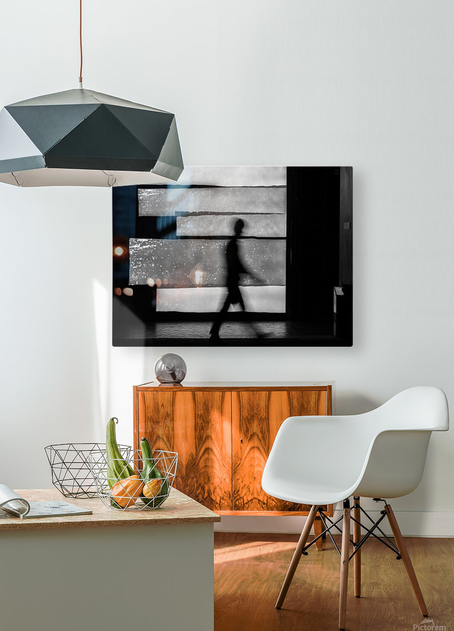 in squares  HD Metal print with Floating Frame on Back