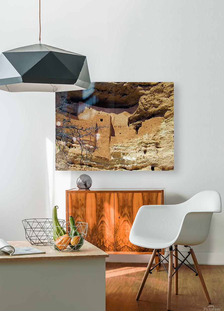 Montezuma's Castle-12  Impression métal HD avec cadre flottant sur le dos