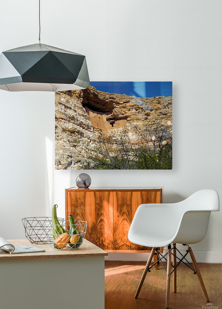 Montezuma's Castle-3  HD Metal print with Floating Frame on Back