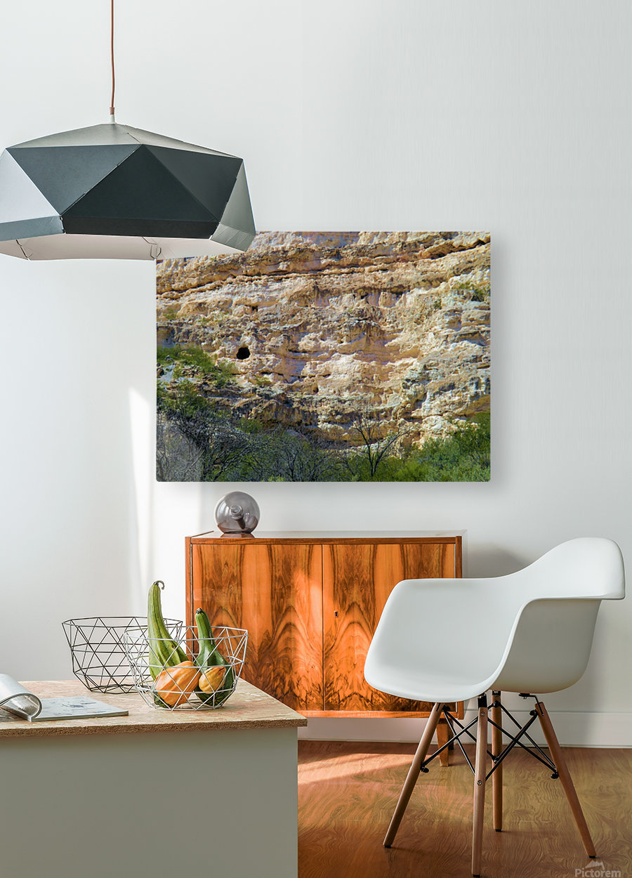 Montezuma's Castle-2  HD Metal print with Floating Frame on Back