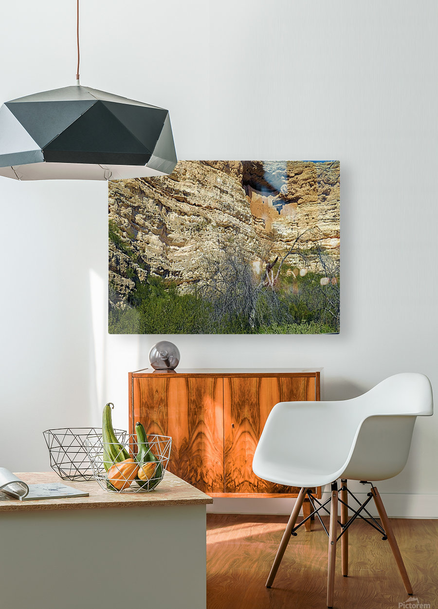 Montezuma's Castle-1  HD Metal print with Floating Frame on Back