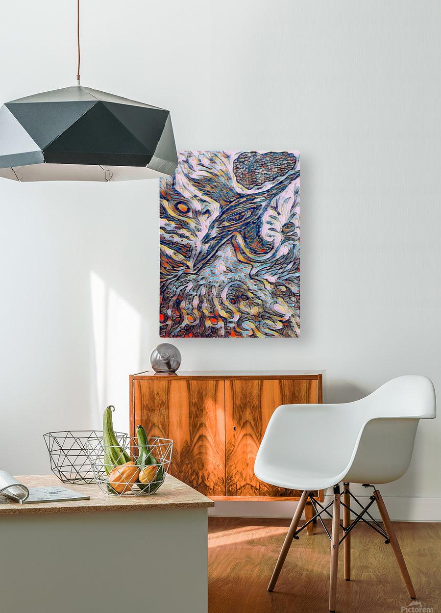 shiba   HD Metal print with Floating Frame on Back
