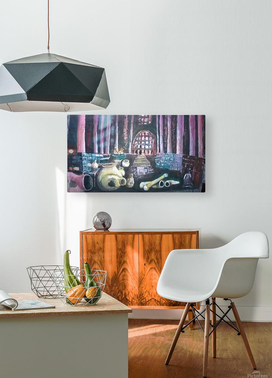 Life  under  Impression métal HD avec cadre flottant sur le dos