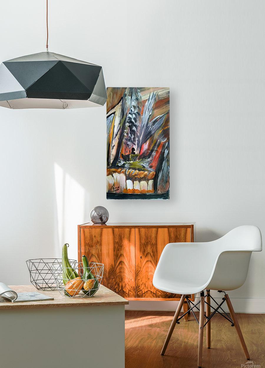 abstact canvas acrylic   Impression métal HD avec cadre flottant sur le dos