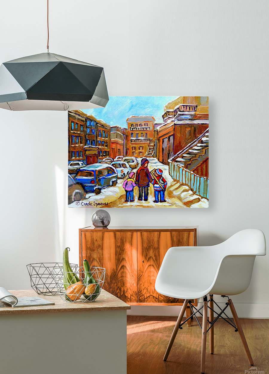 BEAUTIFUL DAY FOR A WALK IN MONTREAL  HD Metal print with Floating Frame on Back