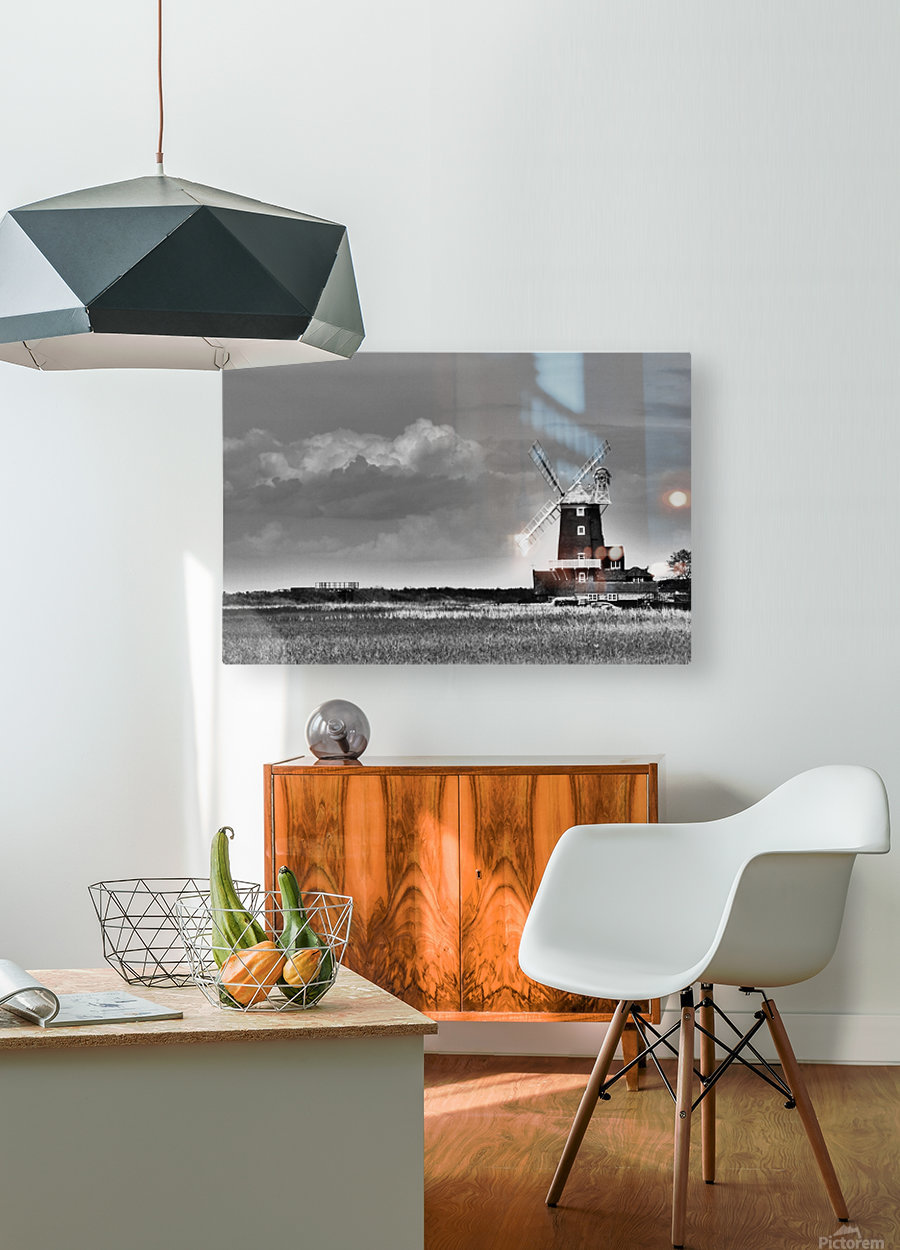 Cloud blower  HD Metal print with Floating Frame on Back