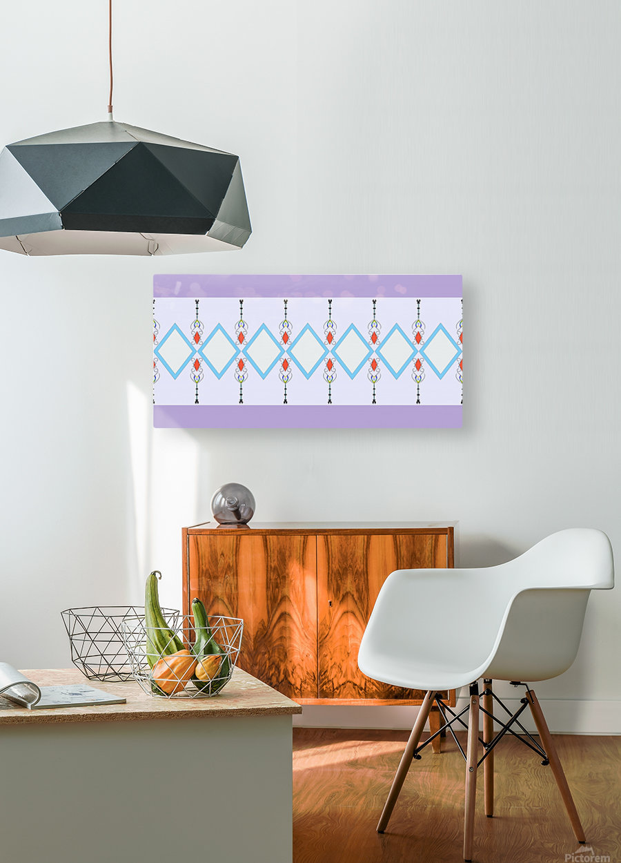 Pastel Pattern 1  HD Metal print with Floating Frame on Back