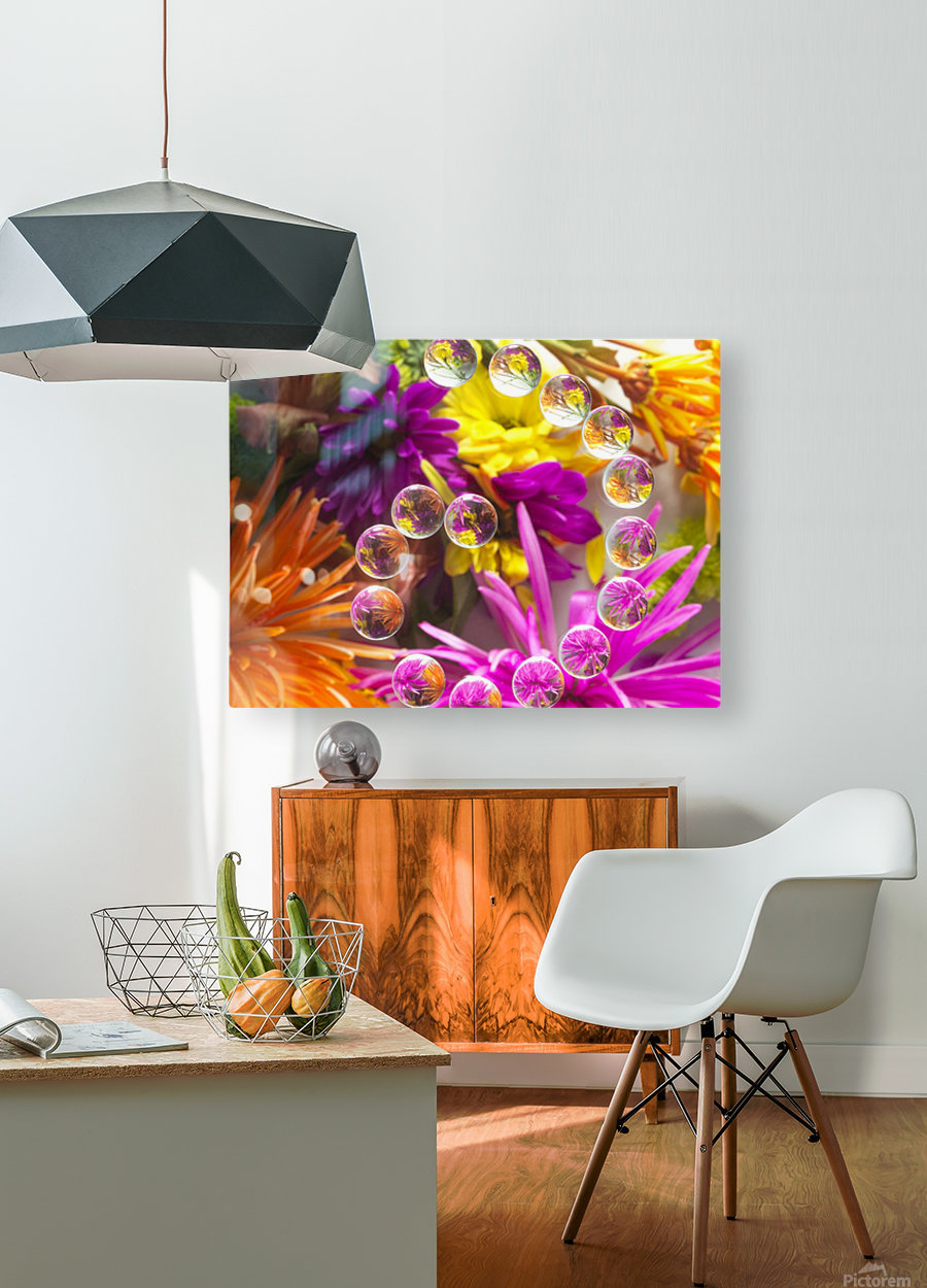 FLOWERS REFRACTION 13  HD Metal print with Floating Frame on Back