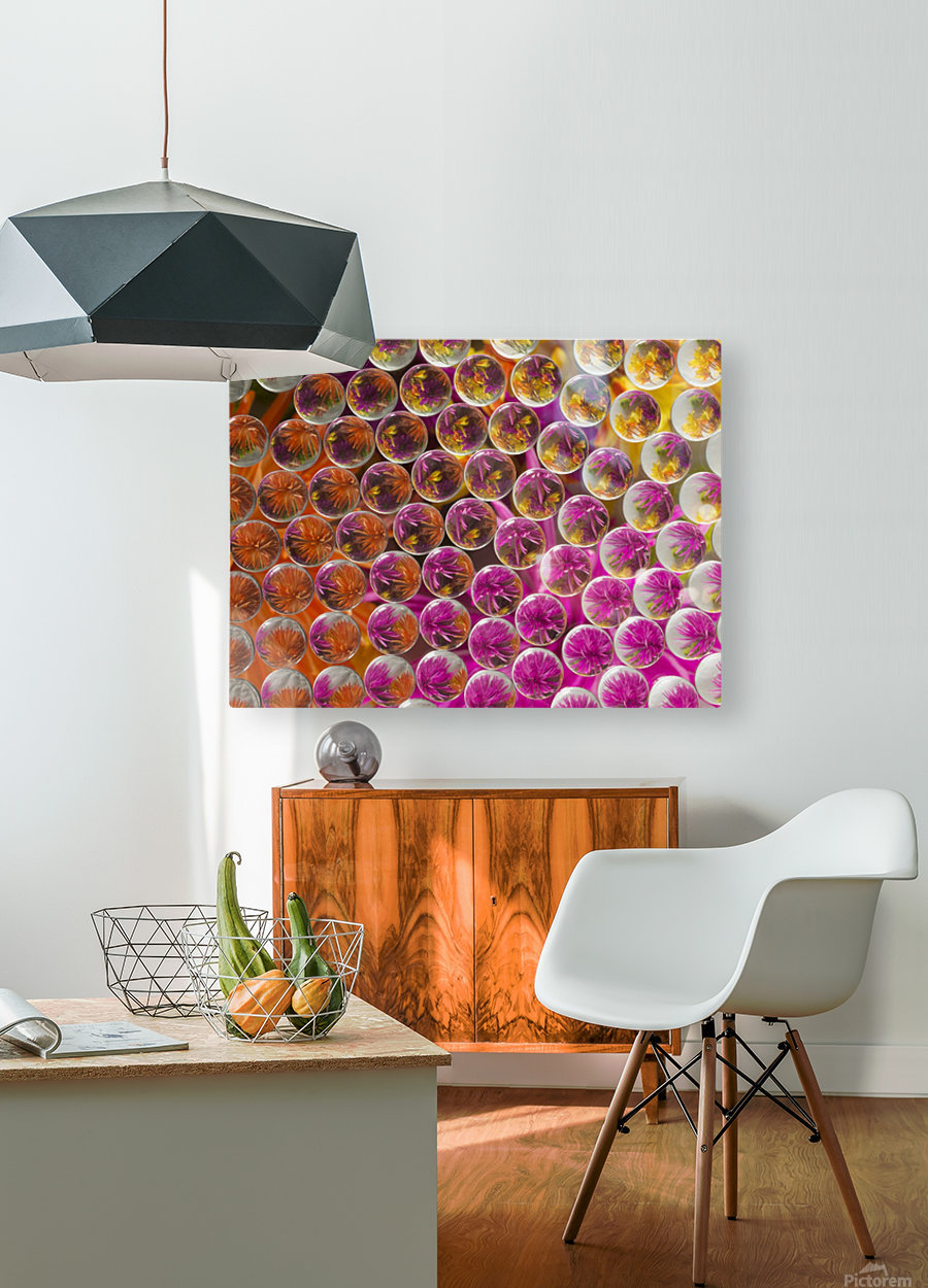 FLOWERS REFRACTION 5  HD Metal print with Floating Frame on Back