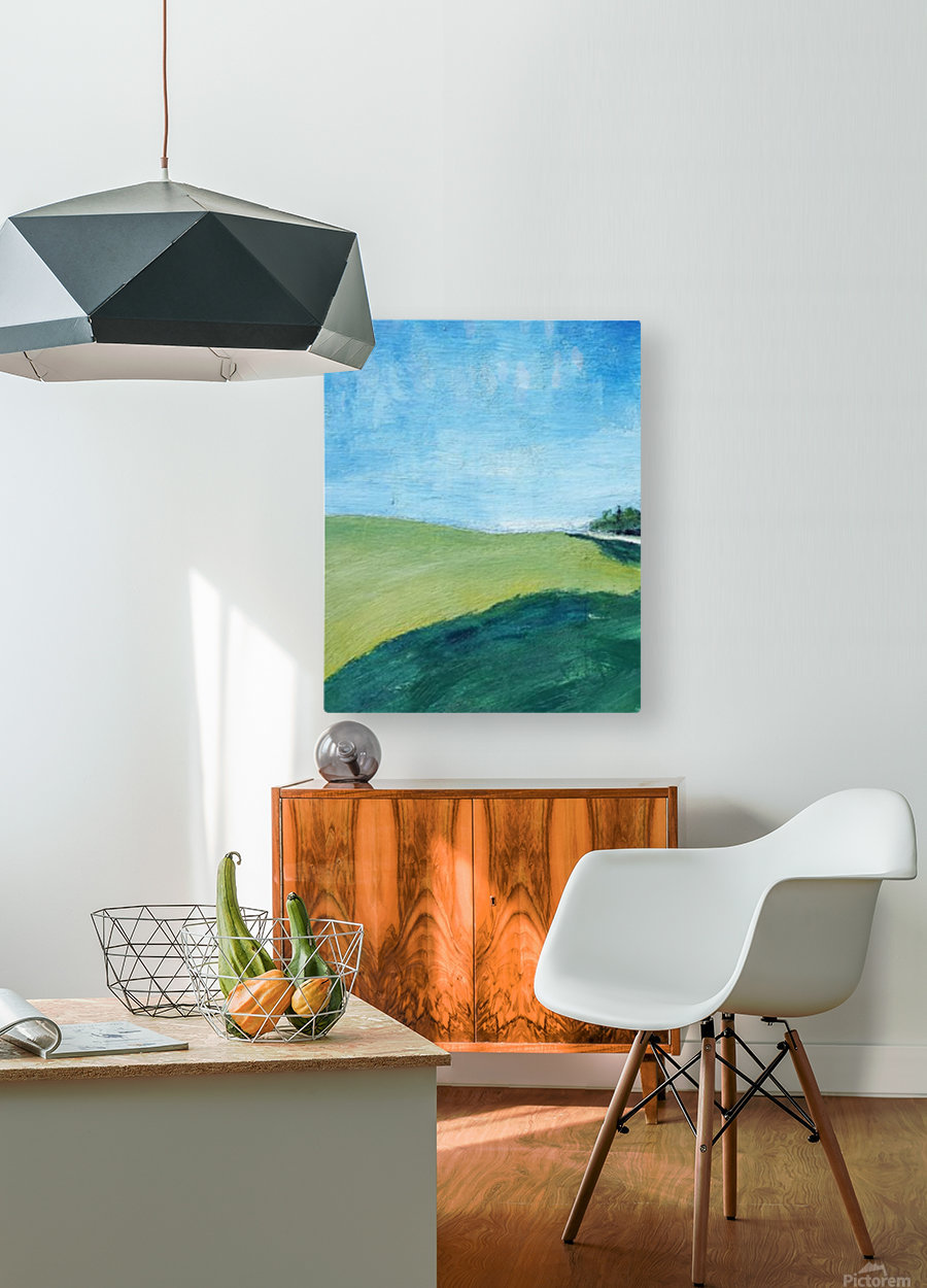 Study for Fields at Cossall  HD Metal print with Floating Frame on Back