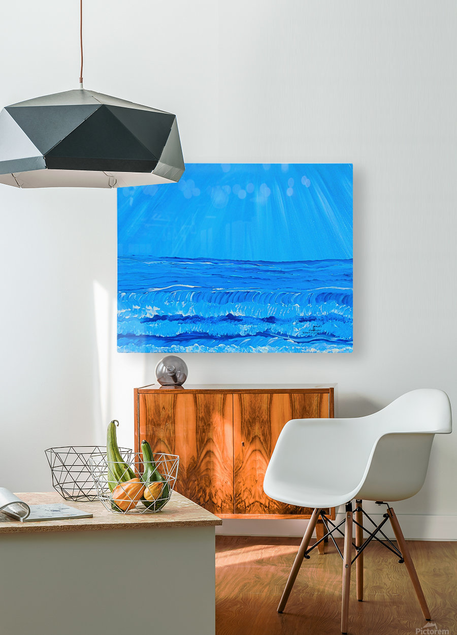 27_027 waves R  HD Metal print with Floating Frame on Back