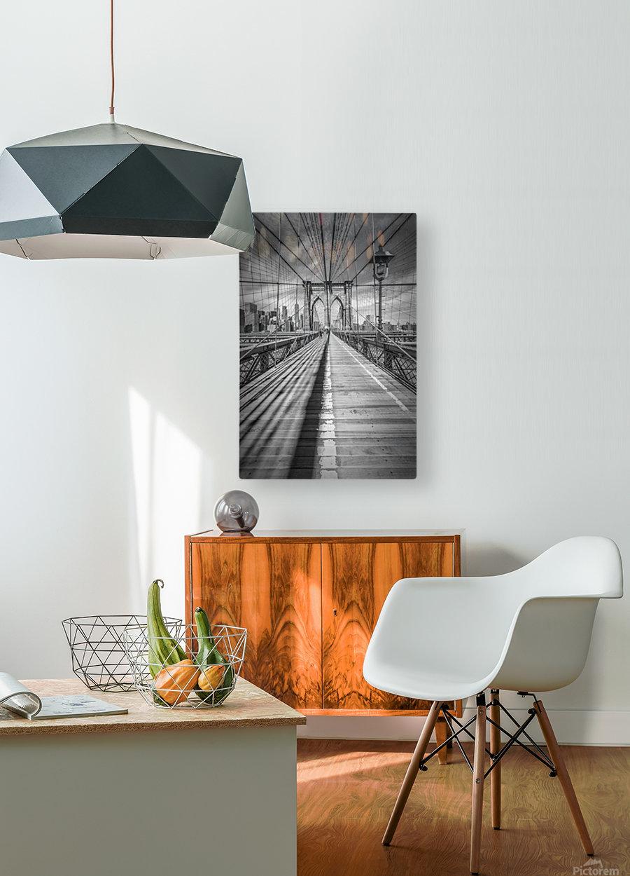 NEW YORK CITY Brooklyn Bridge  HD Metal print with Floating Frame on Back
