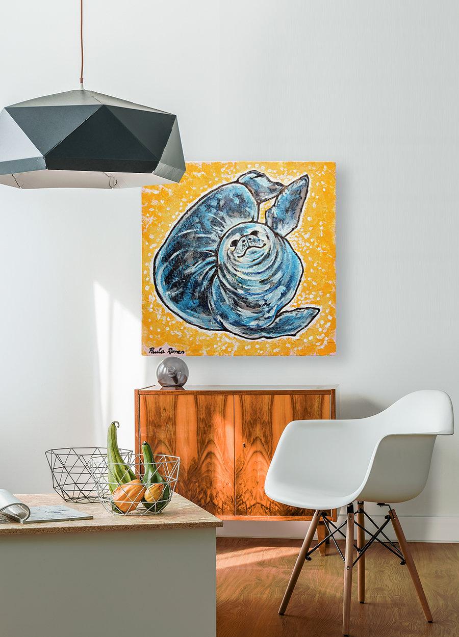Foca Ori  HD Metal print with Floating Frame on Back