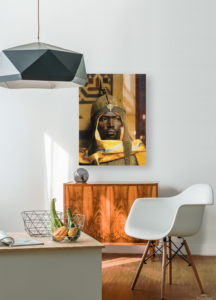 Portrait of Nubian Palace Guard  HD Metal print with Floating Frame on Back