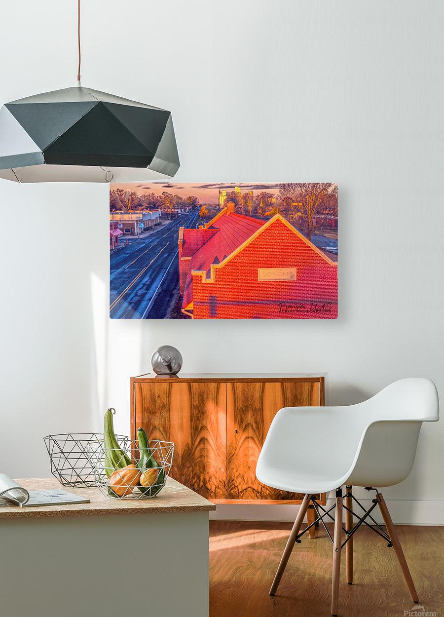 Lonoke, AR   Red Oak   HD Metal print with Floating Frame on Back