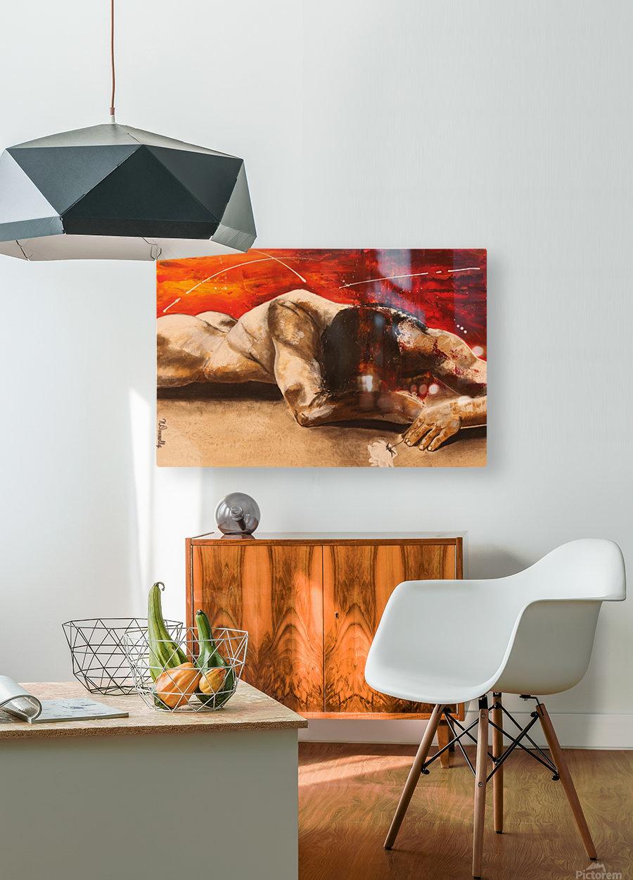 Mis à Nu  HD Metal print with Floating Frame on Back