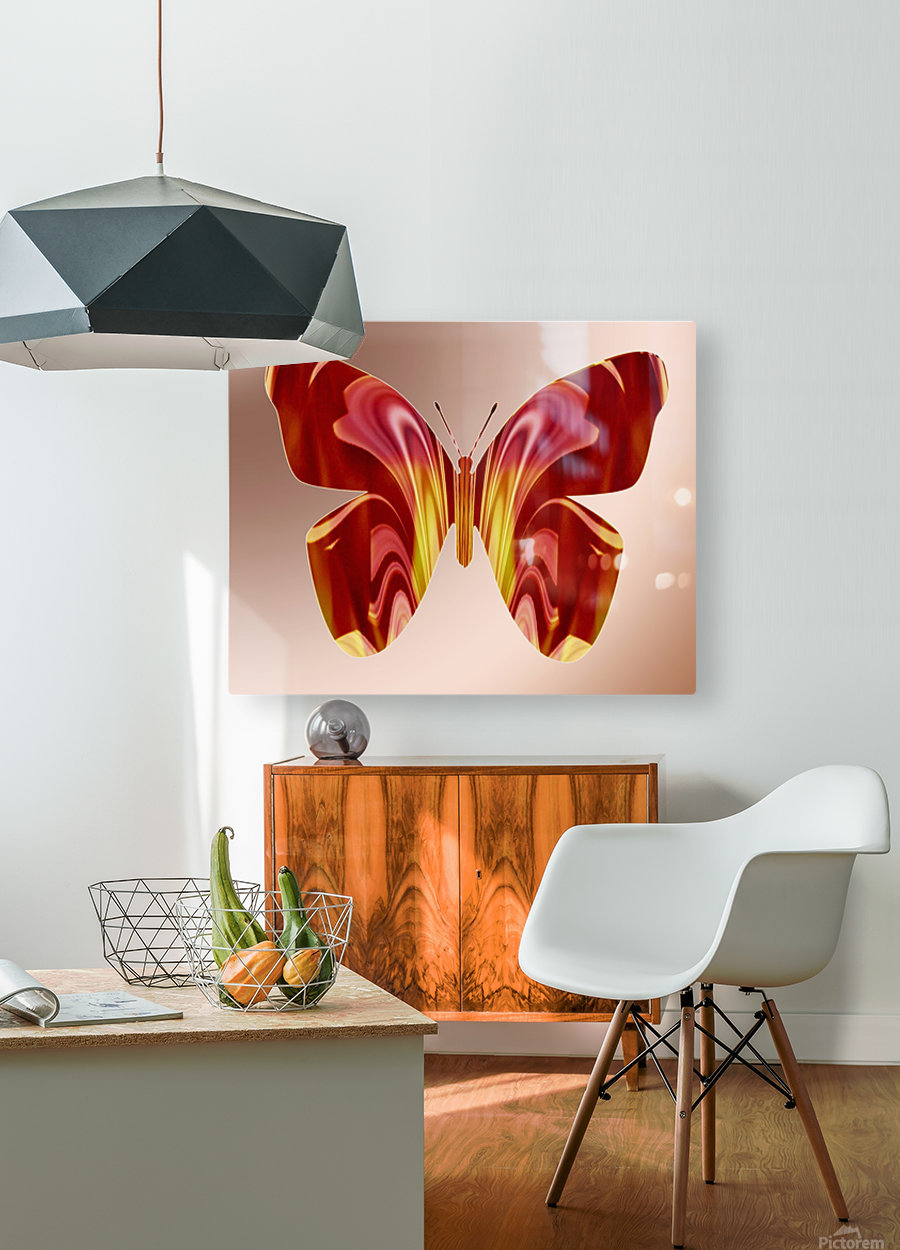 BejeweledButterfly  HD Metal print with Floating Frame on Back