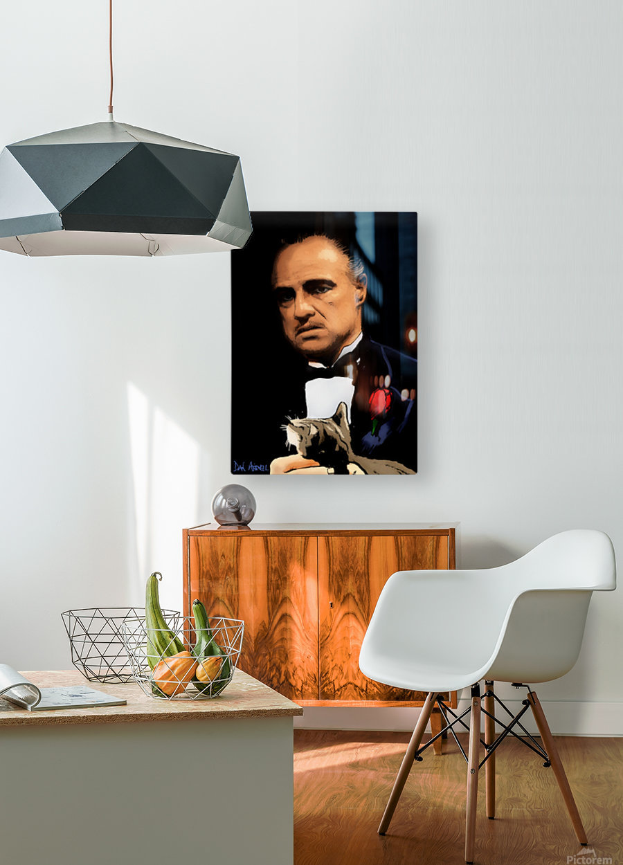 Marlon Brando - The Godfather  HD Metal print with Floating Frame on Back