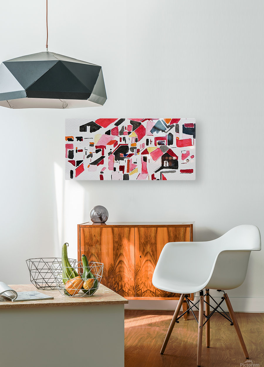 My Postcode  HD Metal print with Floating Frame on Back