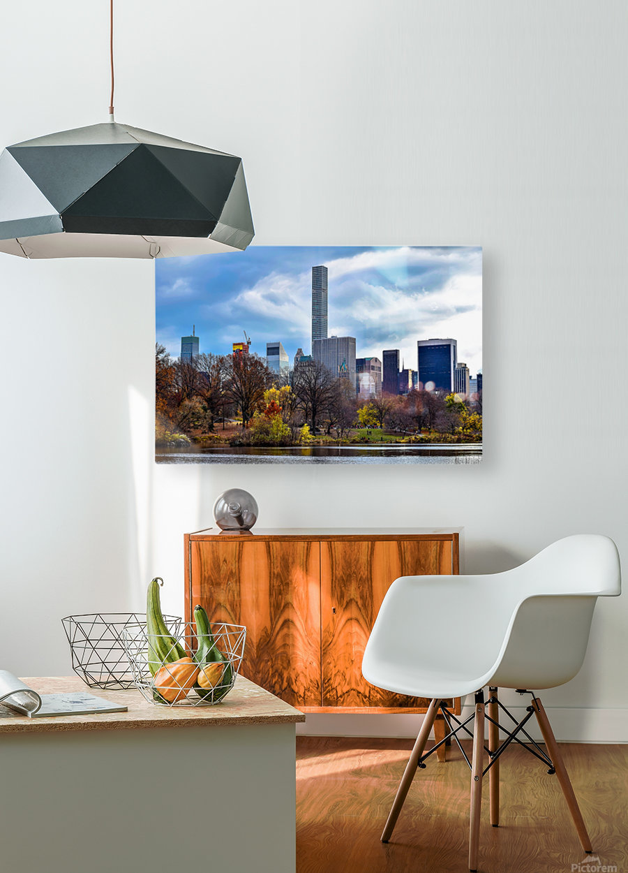 Autumn Central Park   HD Metal print with Floating Frame on Back