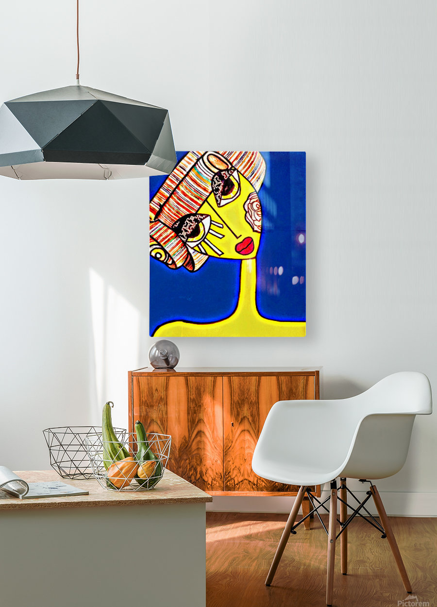 pixel  HD Metal print with Floating Frame on Back