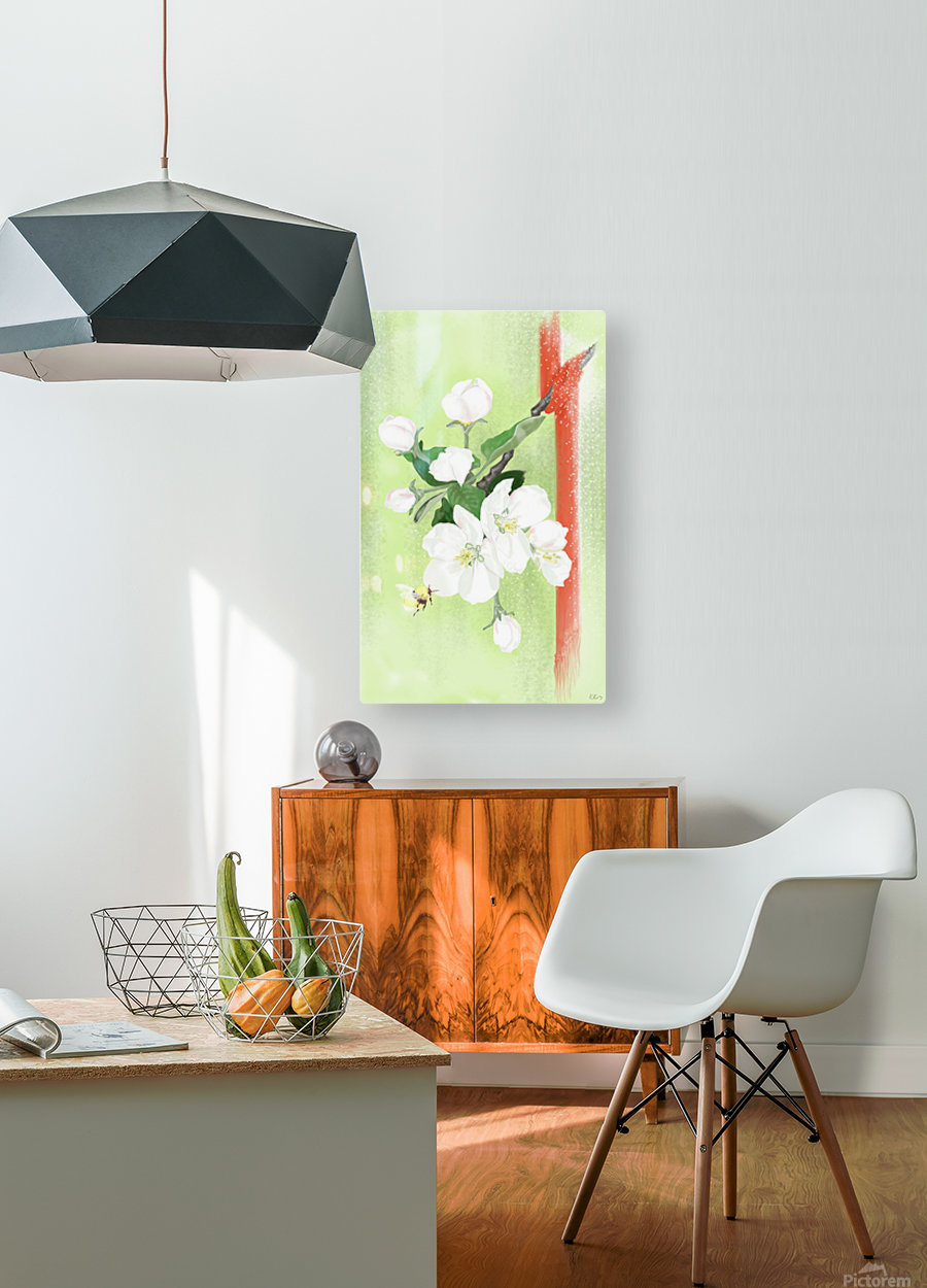 Apple tree  HD Metal print with Floating Frame on Back