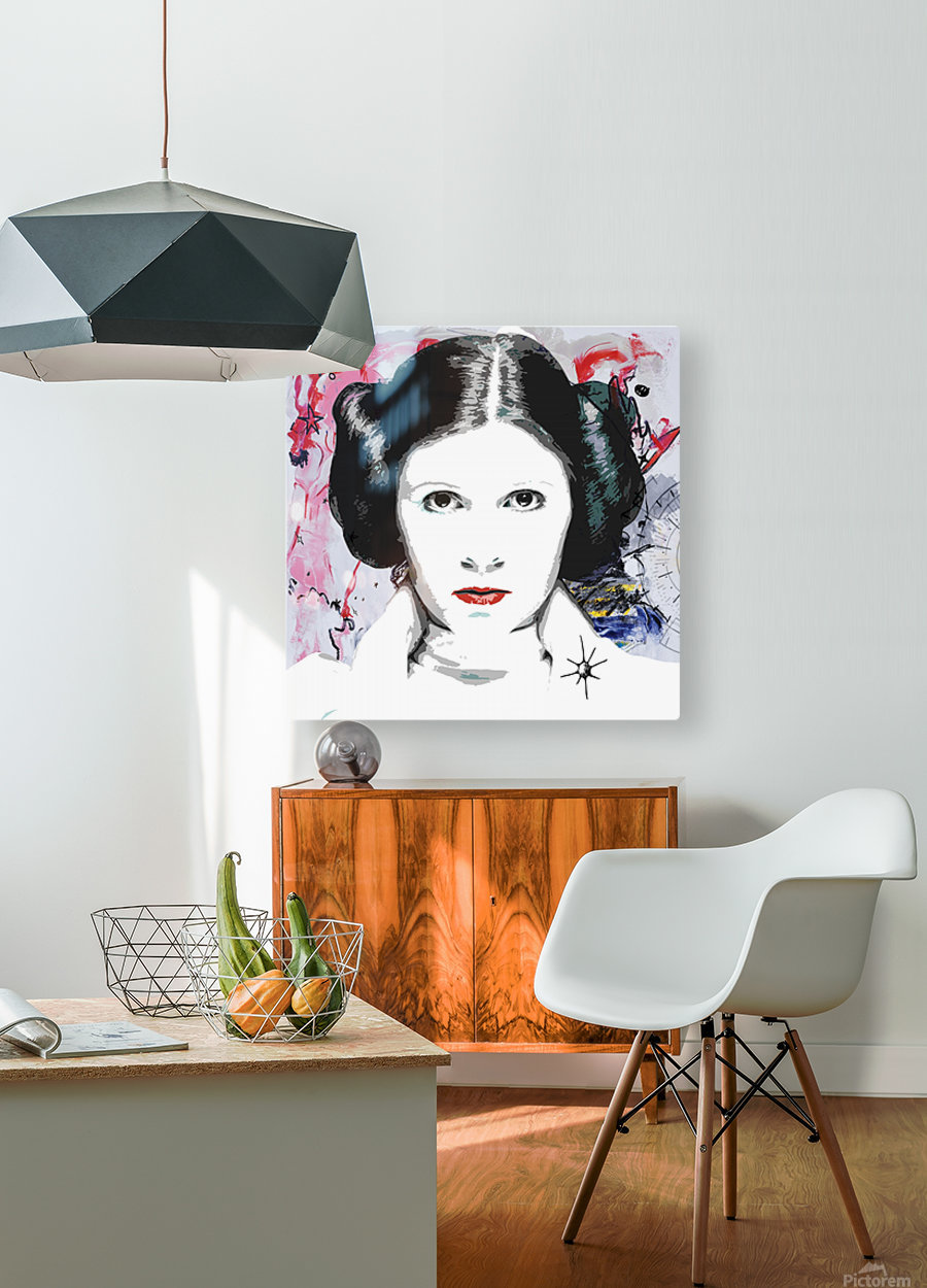 Leia  HD Metal print with Floating Frame on Back