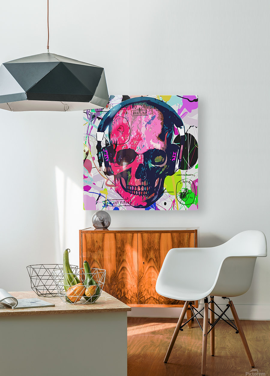 Music Anatomy  HD Metal print with Floating Frame on Back